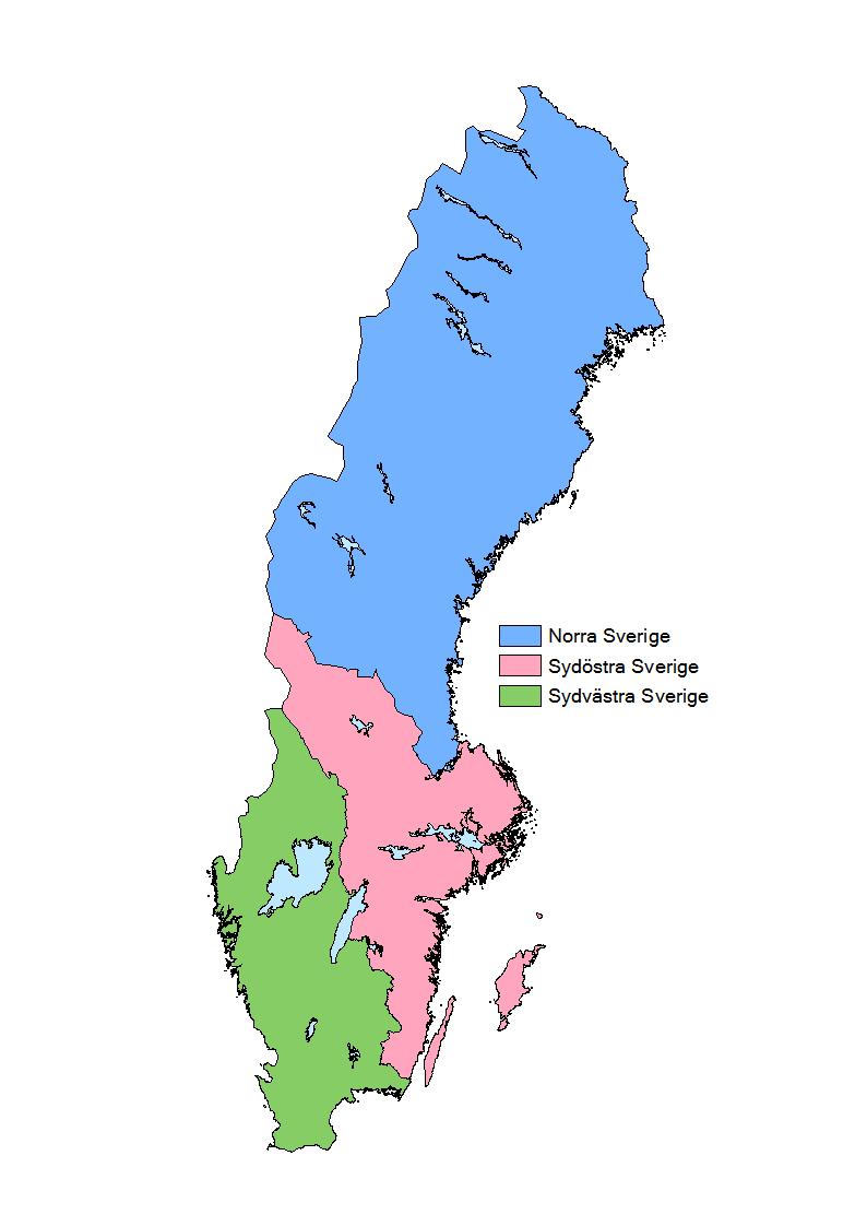 Regioner för tidsserie